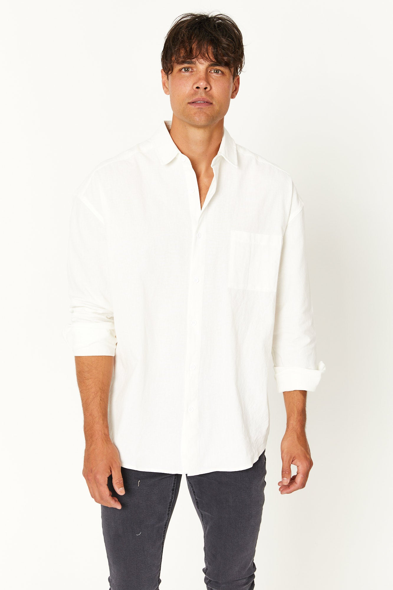 Oversize Soft Cotton Shirt White
