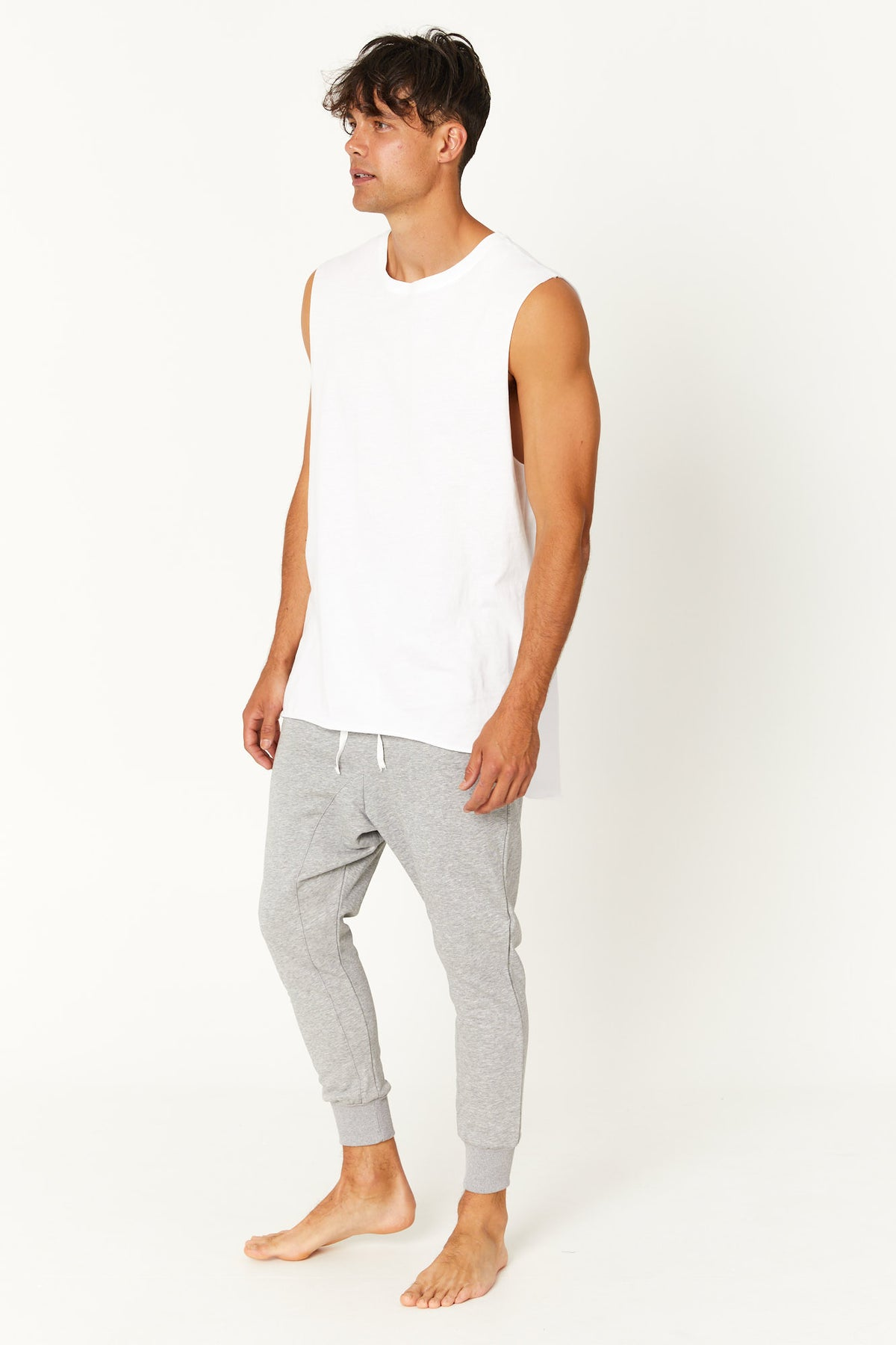 Pierce Drop Track Pant Grey