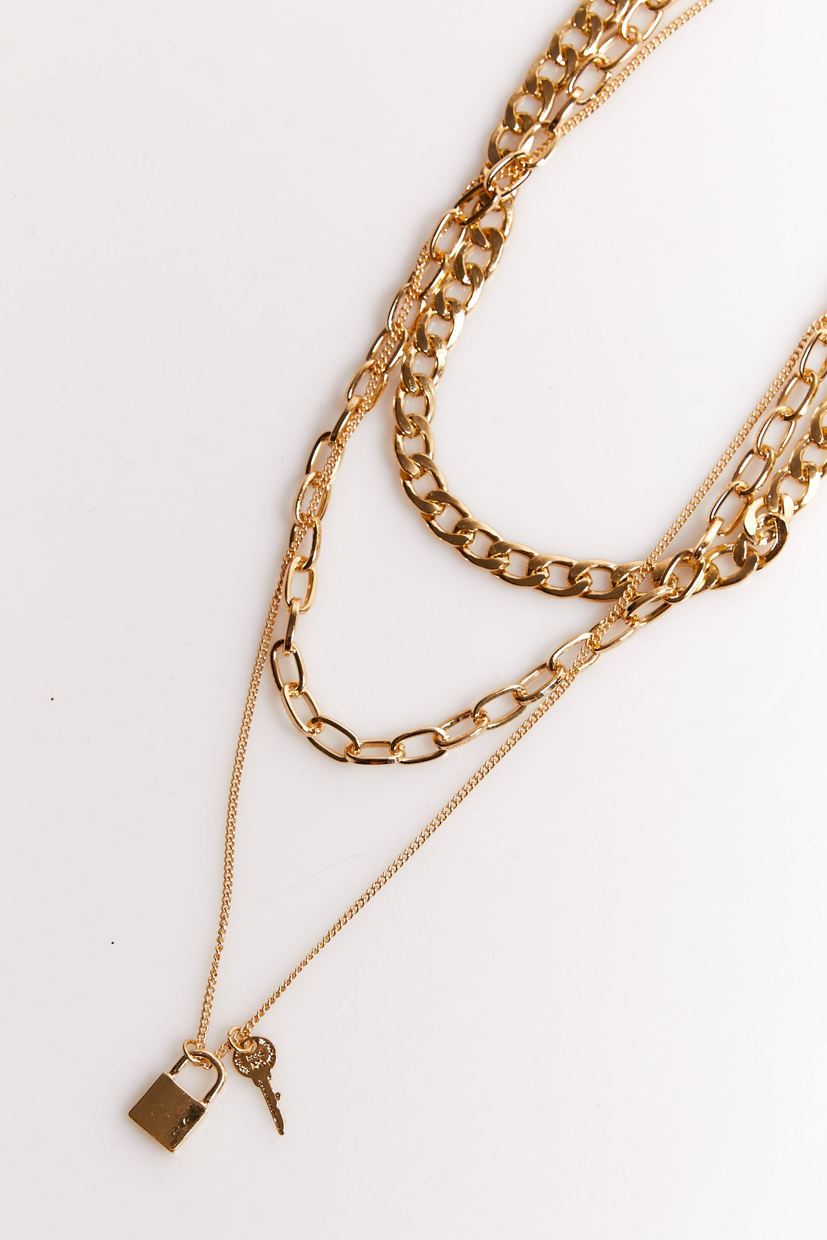 NTH Lock Chain Necklace Gold