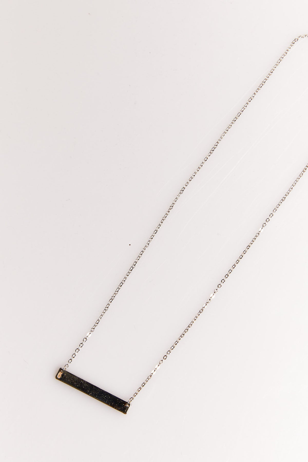 NTH Nameplate Necklace Silver