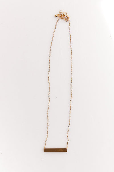 NTH Nameplate Necklace Gold