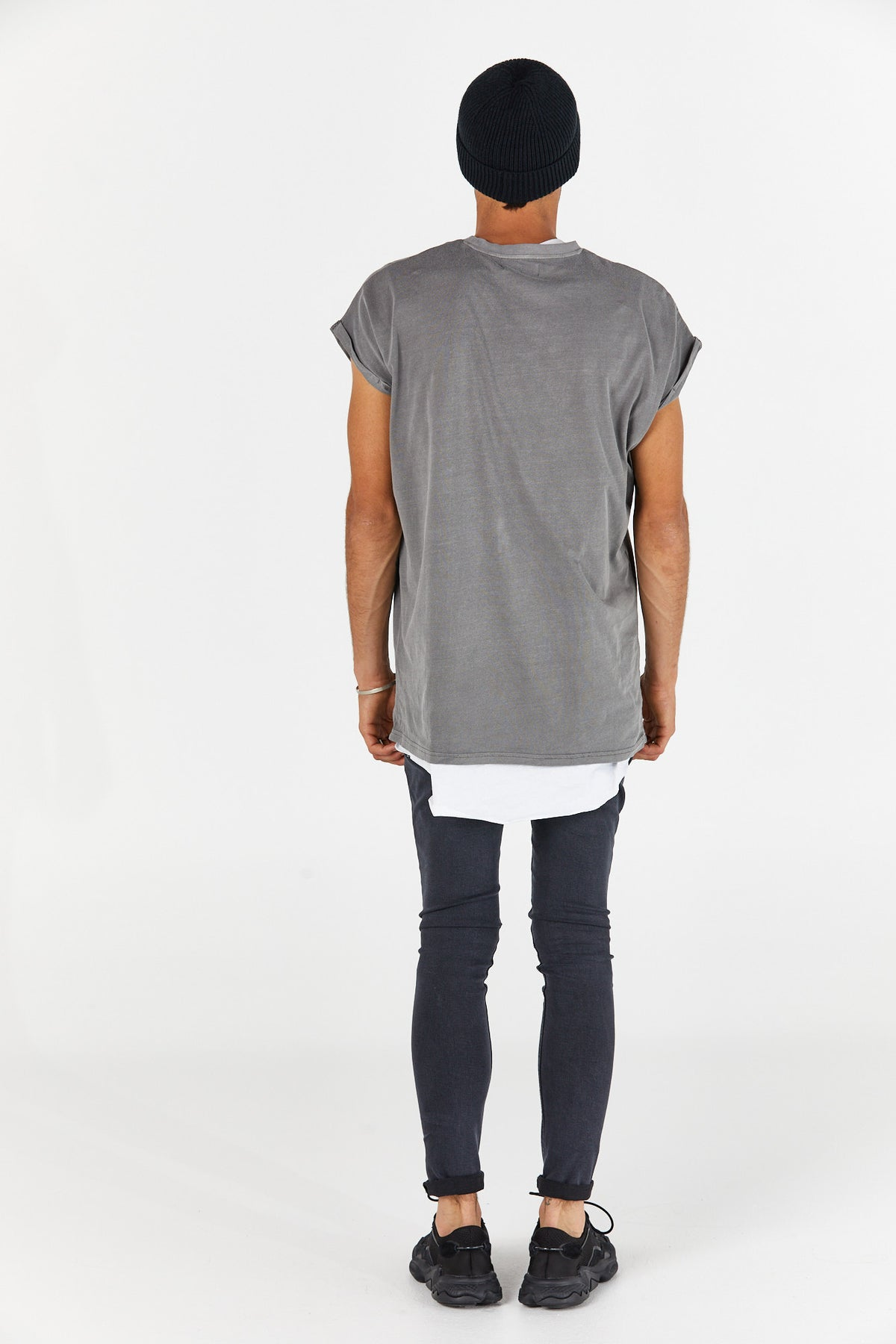 Calvin Sleeveless Tee Wash Grey