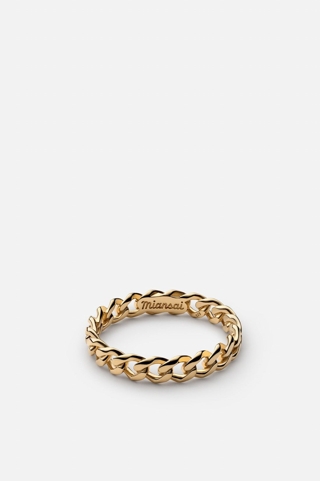 Miansai Cuban Link Ring Gold Vermeil