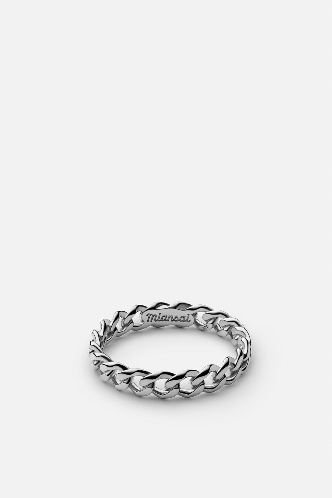 Miansai Cuban Link Ring Sterling Silver