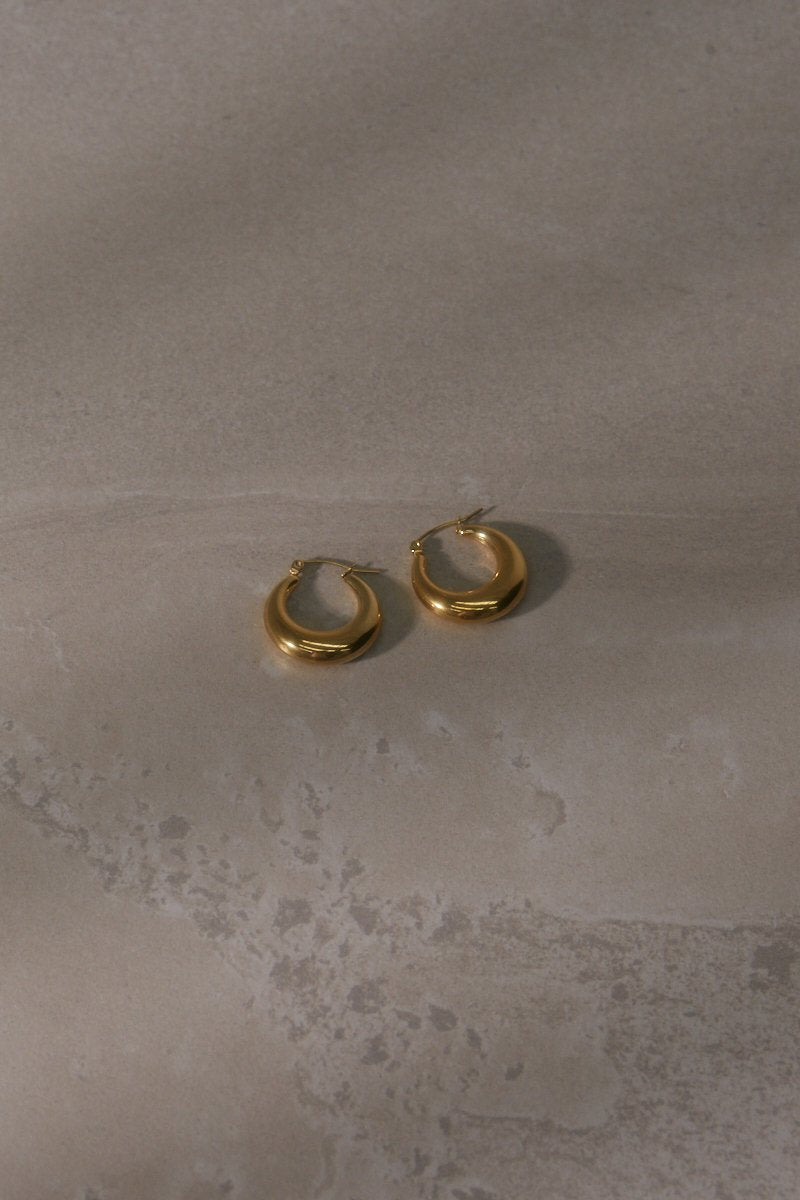 Nicole Hoop Earrings Gold Plated