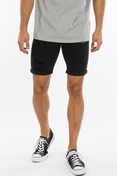 Noah Cuff Denim Short Black