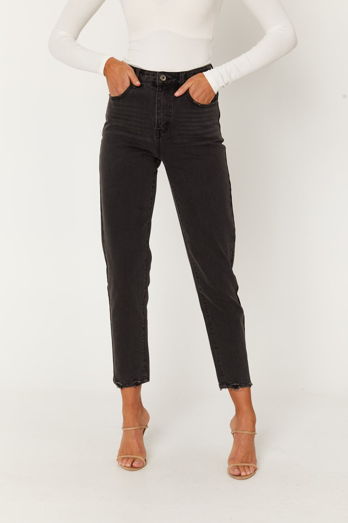 Celeste Mom Jean Washed Black