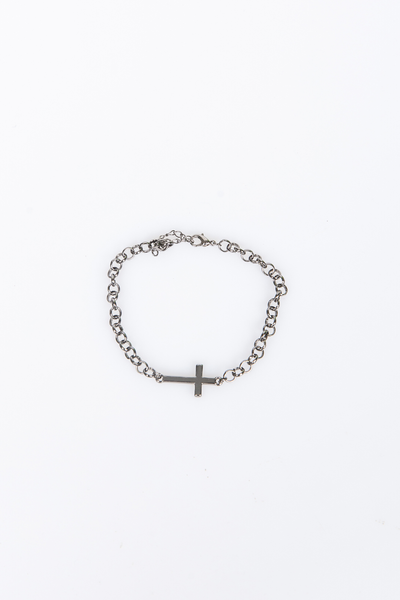 NTH Cross Chain Bracelet Gunmetal