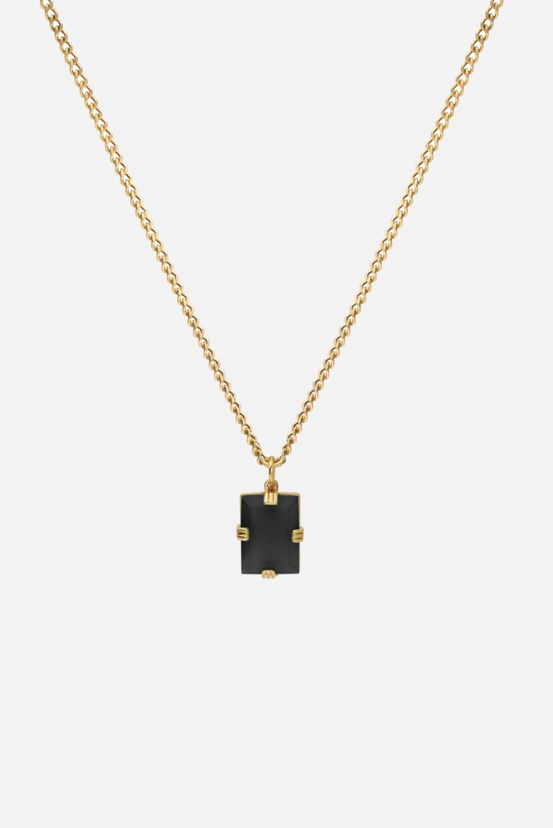 Miansai Lennox Onyx Necklace Gold Vermeil