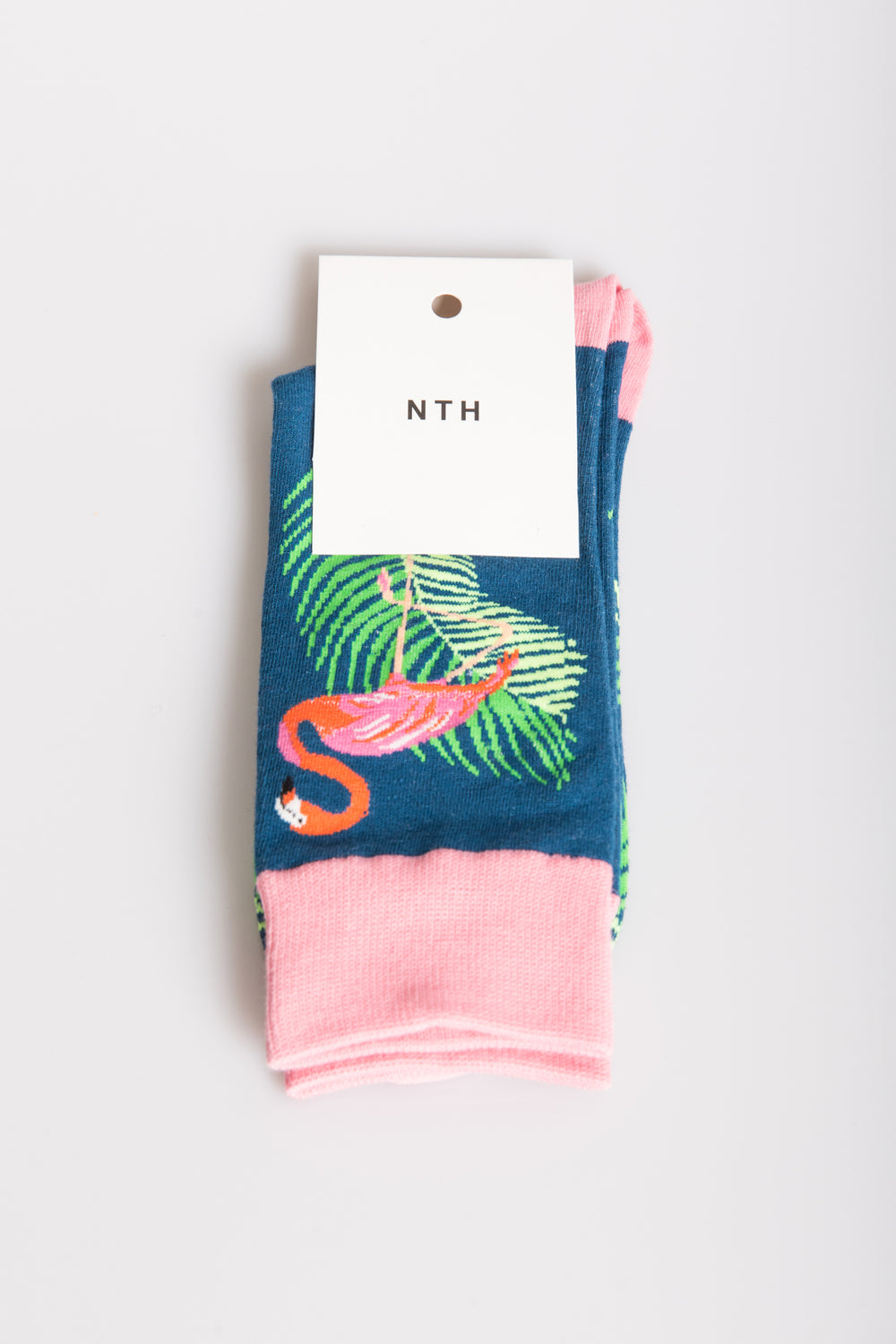 Nth Flamingo Sock Navy