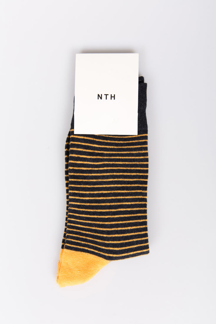 Nth Pinstripe Sock Yellow