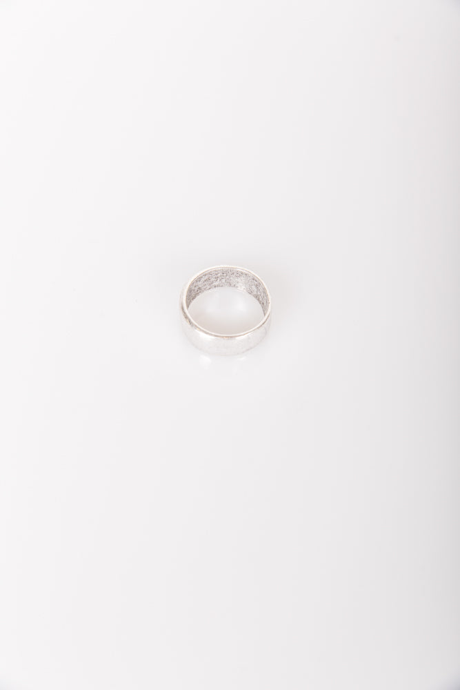 Nth Rustic Round Ring Silver