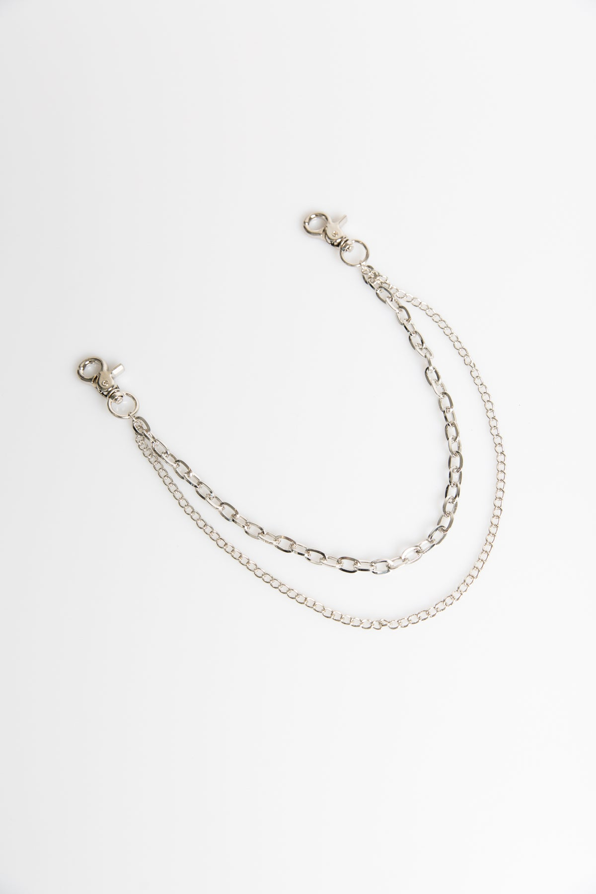 Double Pant Chain Silver