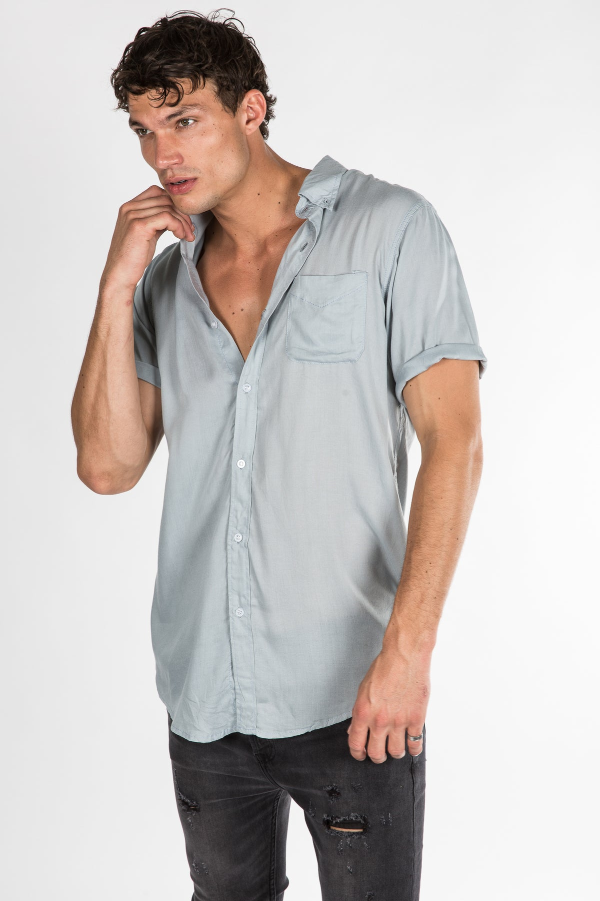 Jack Boating Shirt Grey
