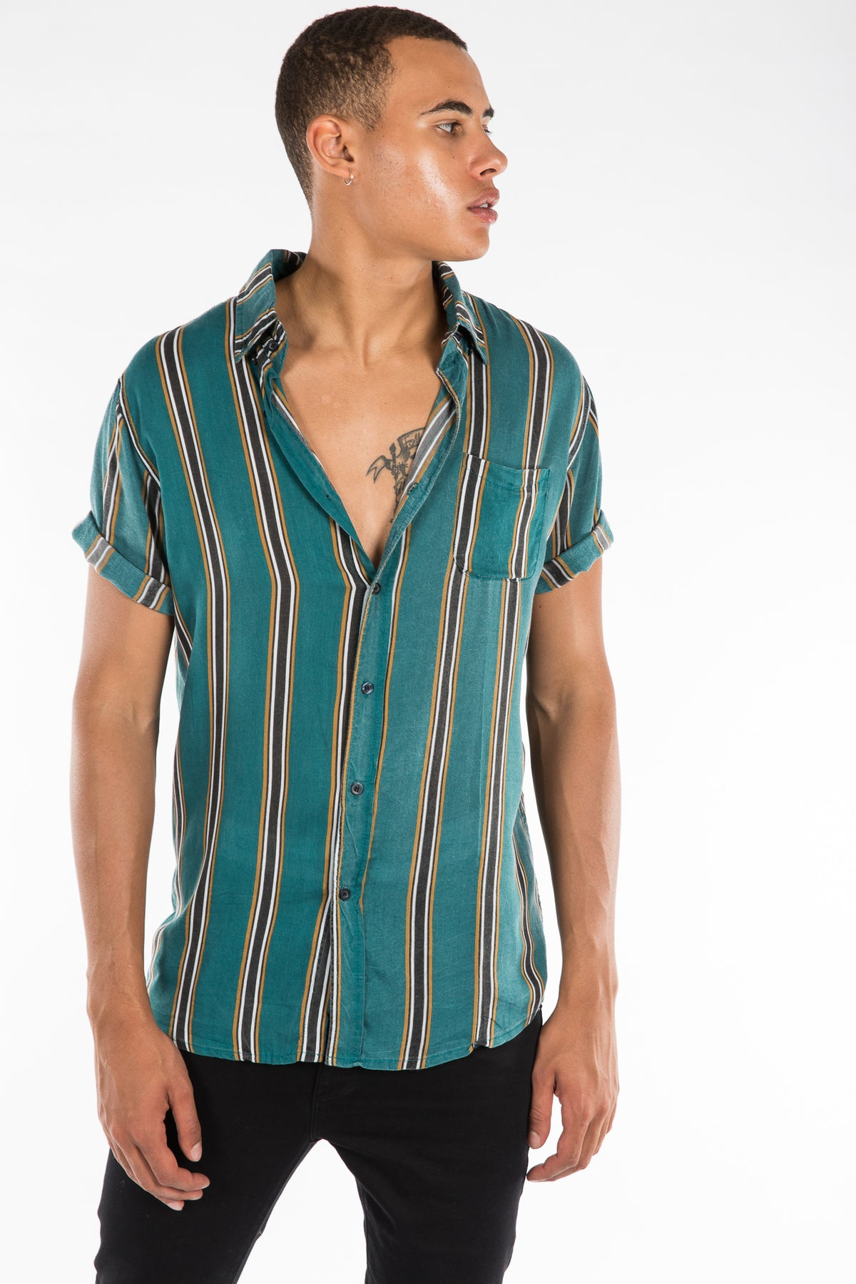Jack Boating Shirt Green Stripe