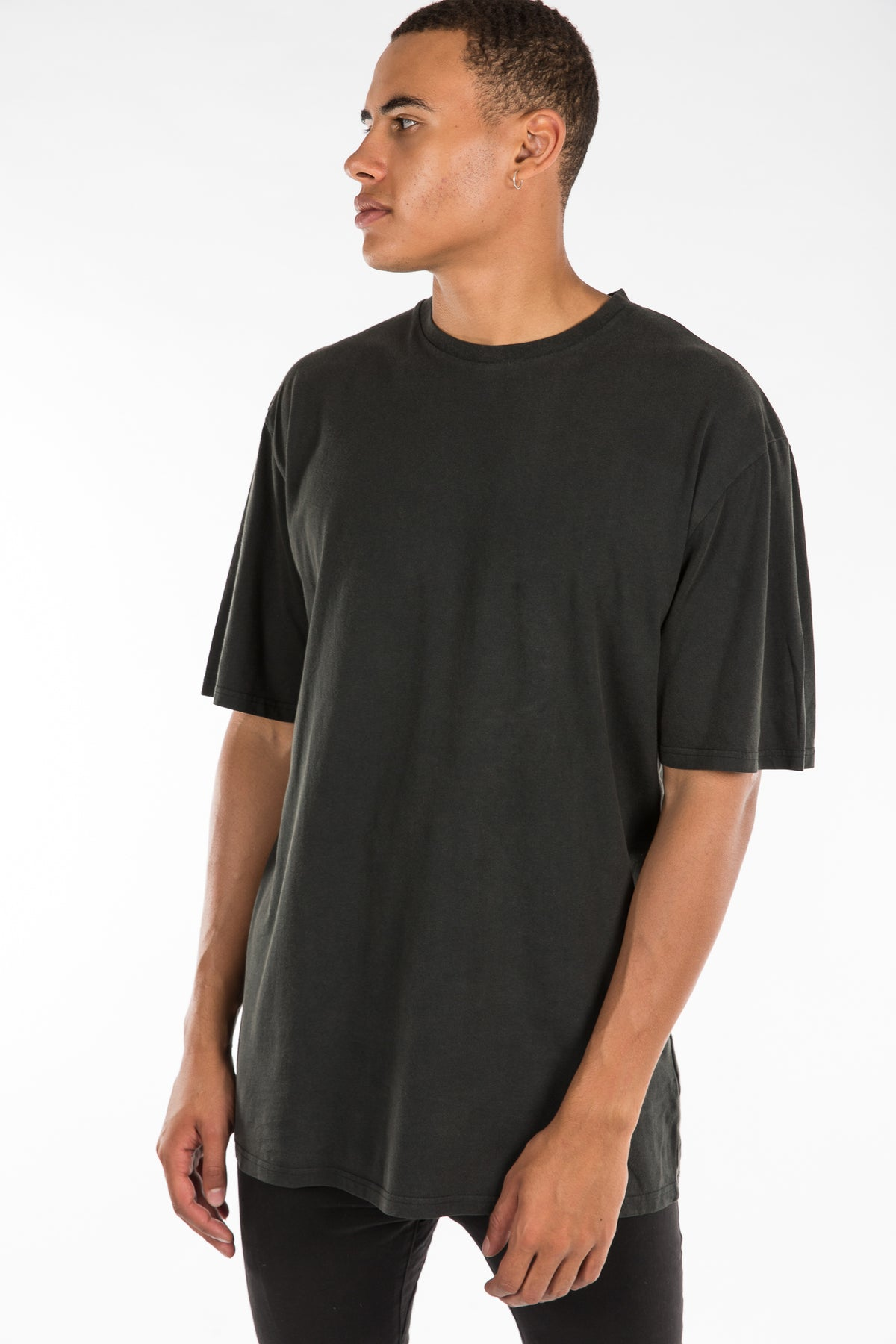 Oversize Enzyme Wash Tee Black
