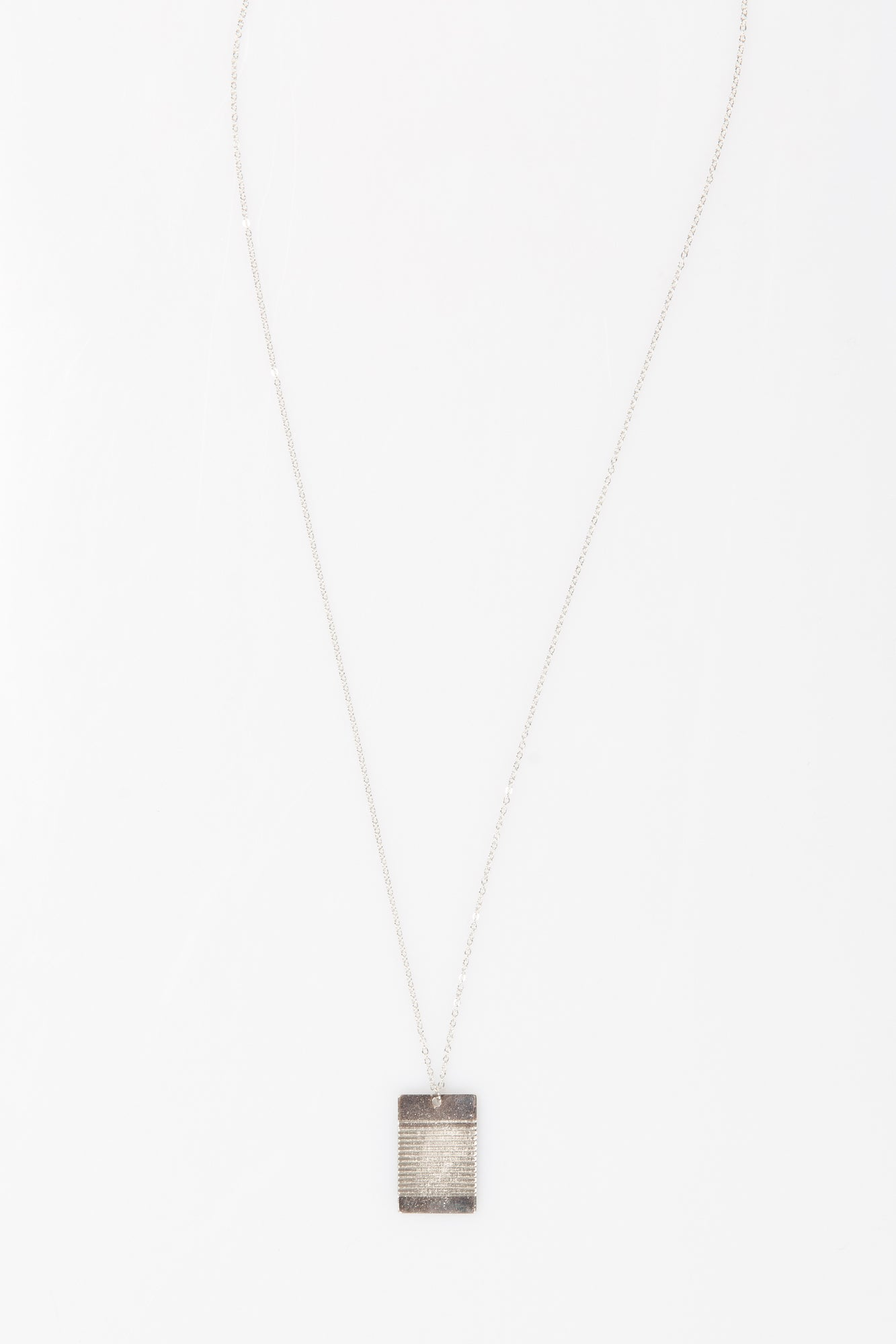Nth Tag Necklace Silver