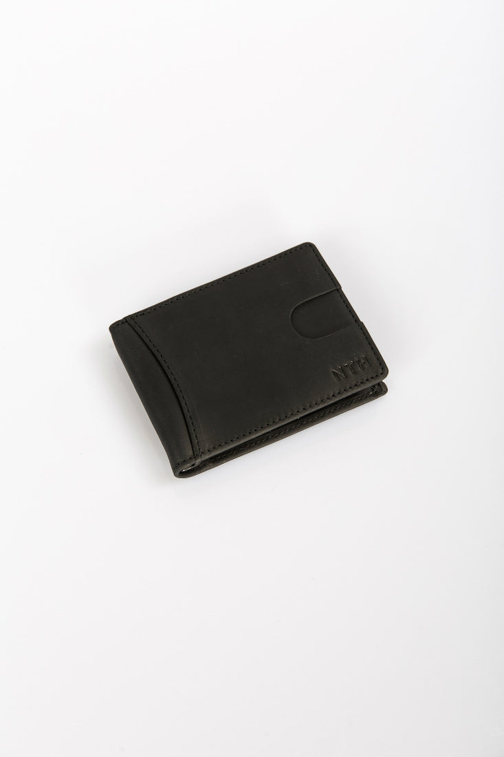 The Clip Wallet Leather Black