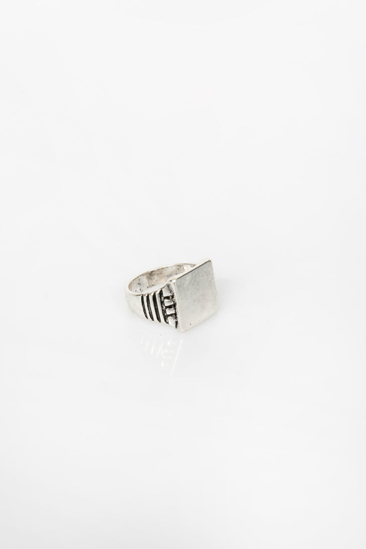 Nth Emboss Ring Silver NTH20181228-1-Silver