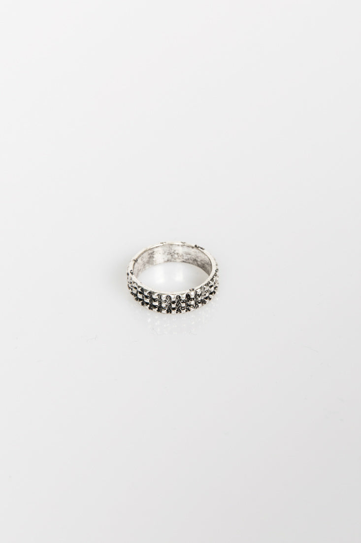Nth Waffle Ring Antique Silver NTH20181225-2-AntiqueSilver