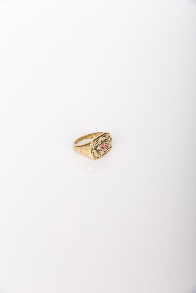 Nth Vintage Eye Ring Antique Gold