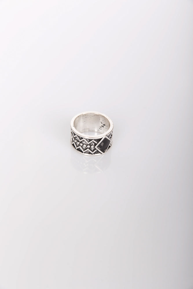Nth Aztec Ring Antique Silver