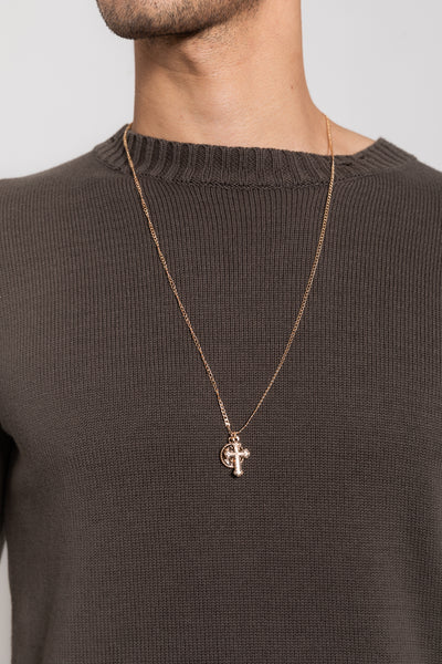 Nth Cross Necklace Gold