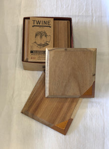 Metallic Dipped Coaster Set by Twine