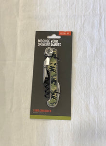 Camo Stainless Steel Corkscrew by Foster and Rye