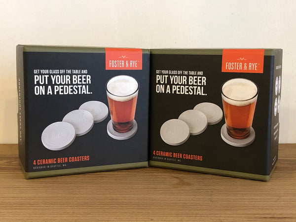 Ceramic Beer Coaster Set by Foster and Rye