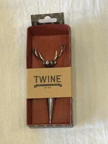 Stag Bottle Stopper by Twine