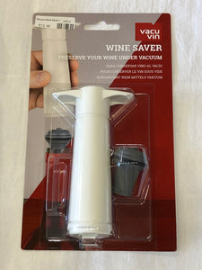 Vacu Vin White Pump with Wine Saver stoppers
