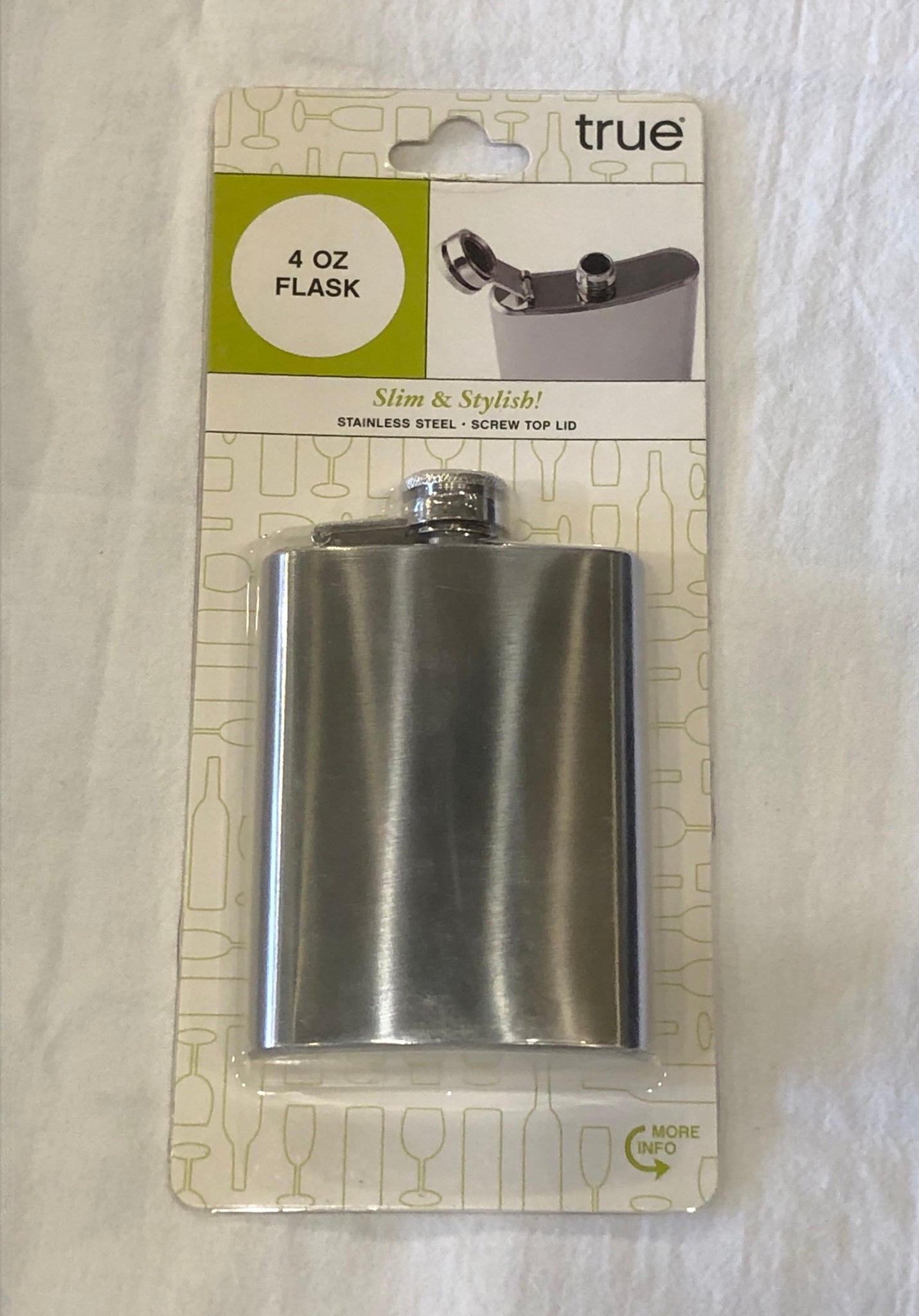 TrueFlask 4oz. Stainless Steel Flask