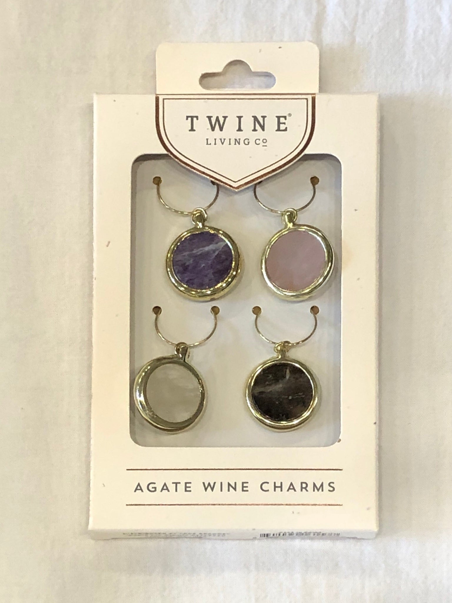 Agate Wine Charm Set by Twine