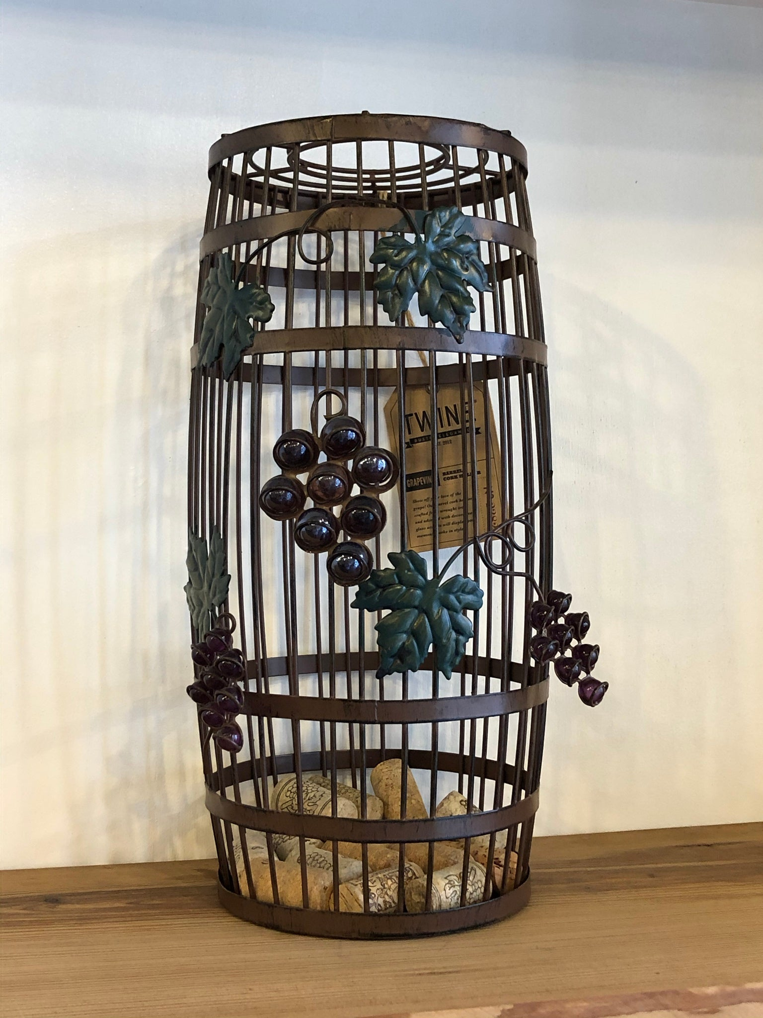 Grapevine Barrel Cork Holder by Twine