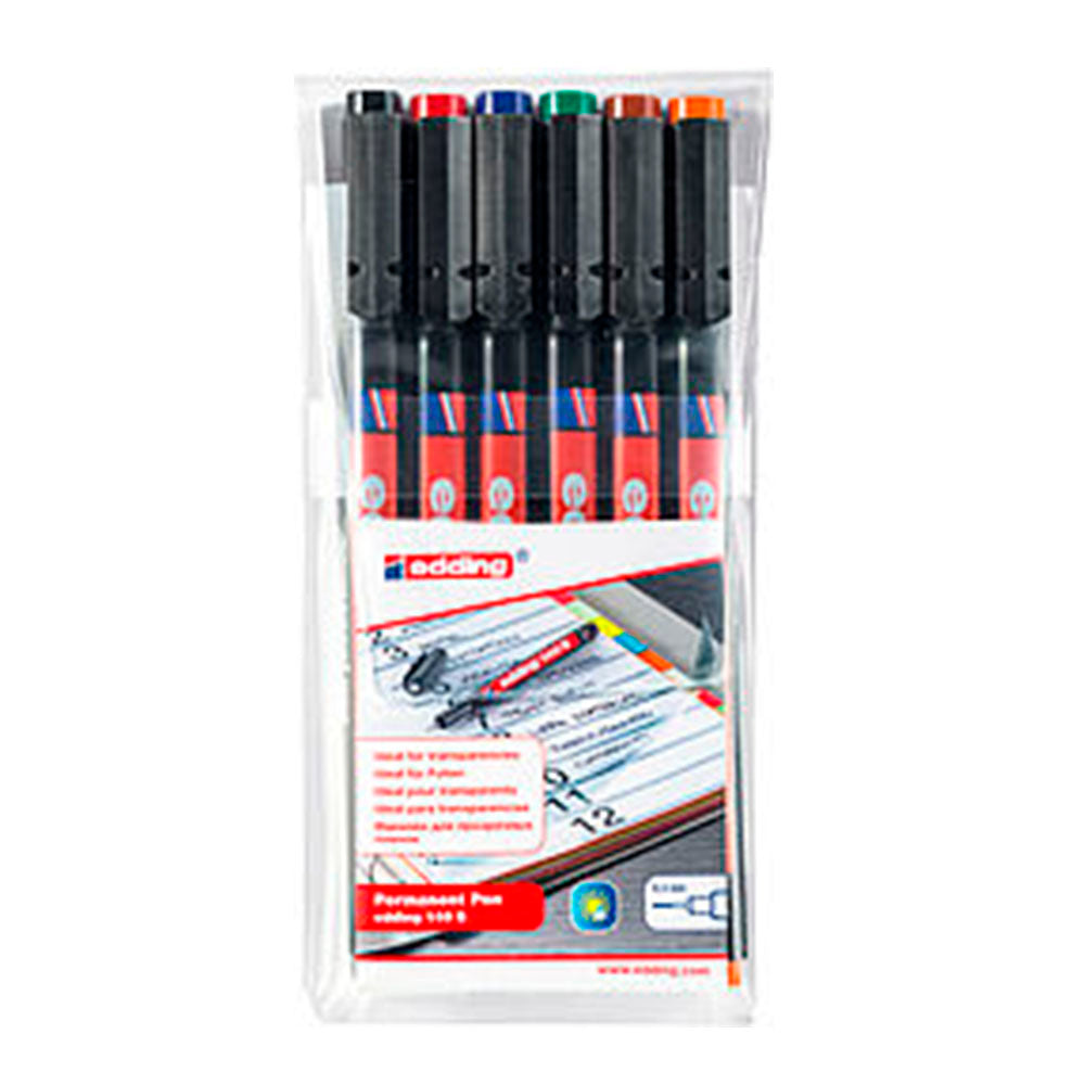 Fineliner permanente edding 140 S set de 6 colores