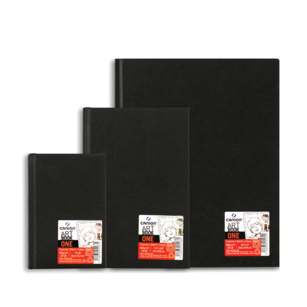 Croquera canson art book one 100gr, 14x21.6cm