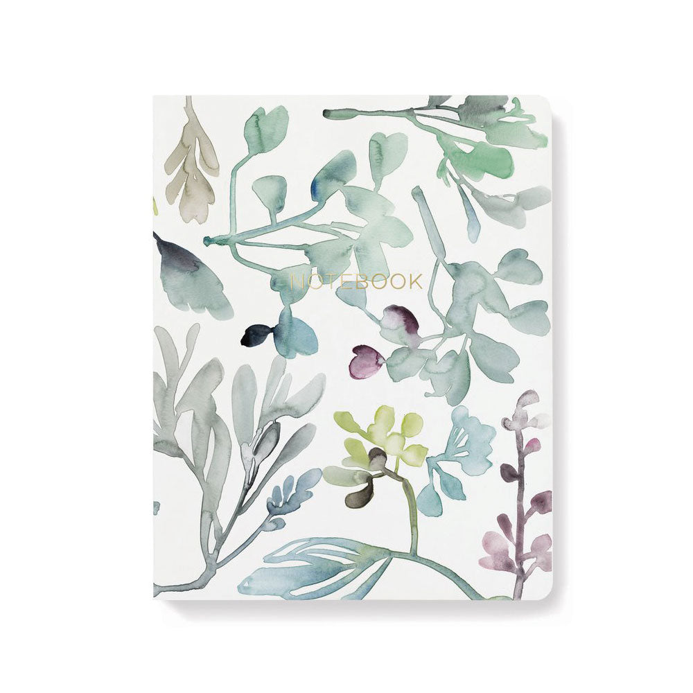 Libreta diario Watercolor Leaf Mix