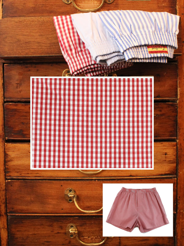 Boxershorts: Boxershorts in rot kariert | John Crocket – Fine British Clothing