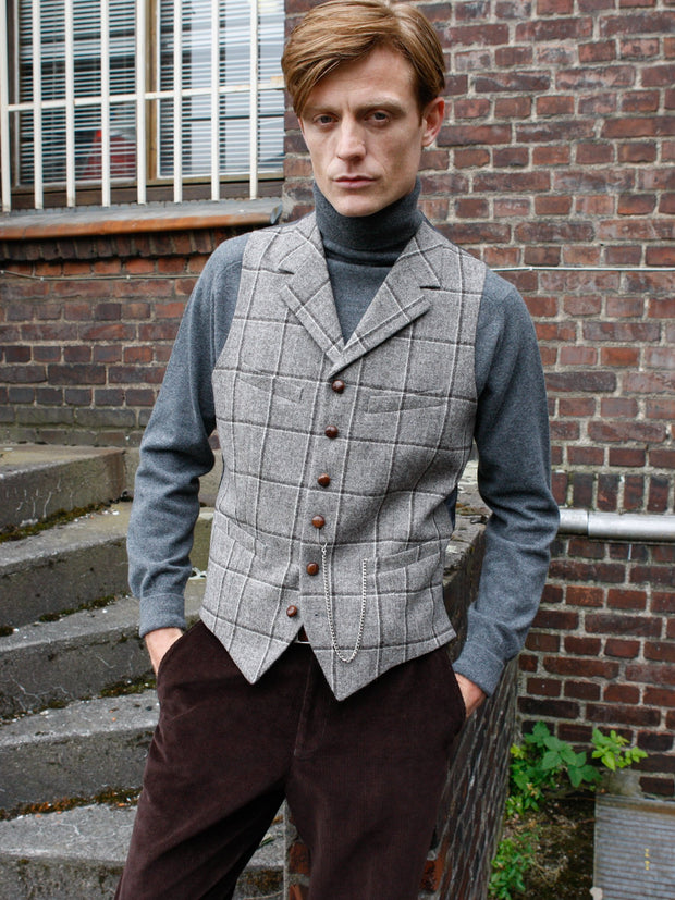 Weste: Tweedweste aus Marling & Evans Tweed | John Crocket – Fine British Clothing