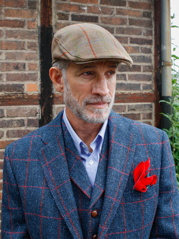 Tweed Cap in brown/coloured aus Lovat Tweed