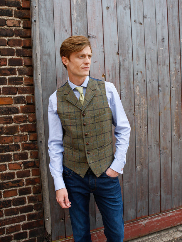 Weste: Tweedweste aus Moon Tweed | John Crocket – Fine British Clothing