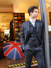 Anzug: Weste in dunkelgrau | John Crocket – Fine British Clothing