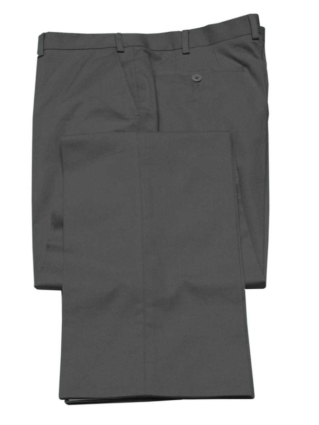 Hose: Slimline Baumwollhose in grau | John Crocket – Fine British Clothing