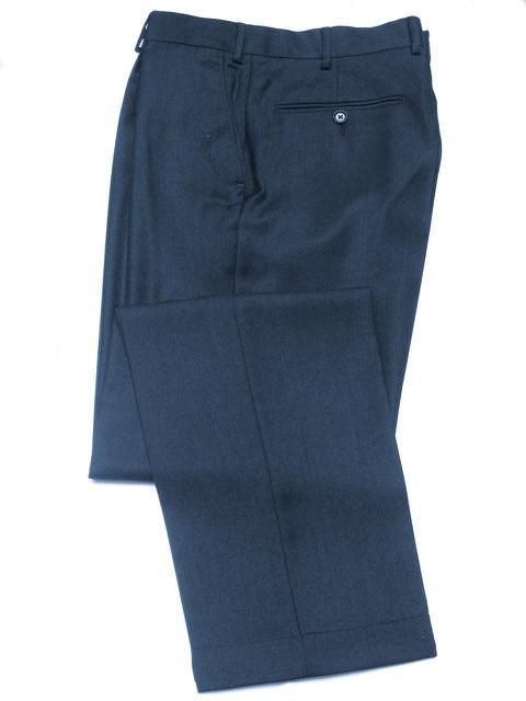 Hose: Classic Baumwollhose in navy | John Crocket – Fine British Clothing
