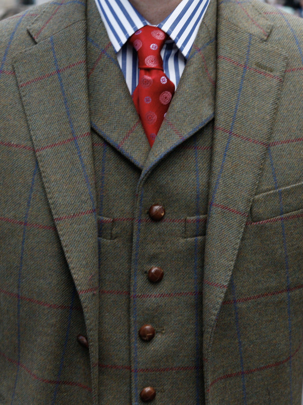 Sakko: Tweedsakko in 3-Knopf Classic aus Lovat Tweed | John Crocket – Fine British Clothing