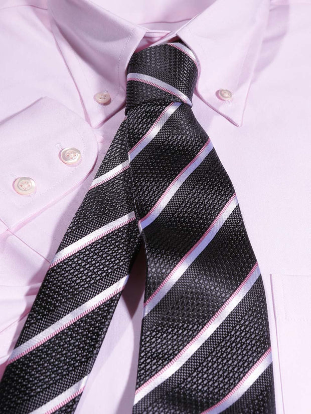 Hemd: Hemd mit Classic Button Down Kragen in rosa | John Crocket – Fine British Clothing