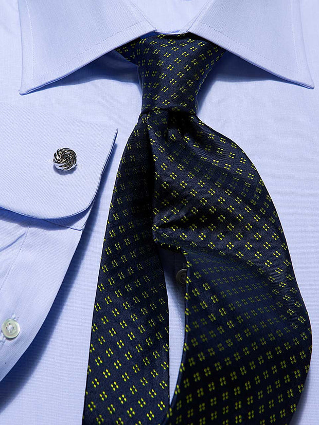 Hemd: Hemd in Classic mit Windsor Kragen in blau | John Crocket – Fine British Clothing