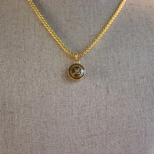 "Load image into Gallery viewer, Repurposed Brown Louis Vuitton ""LV"" Charm Necklace"