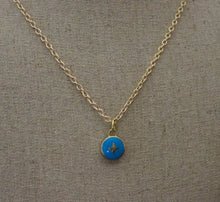 Load image into Gallery viewer, Repurposed Blue Louis Vuitton Star Charm Necklace